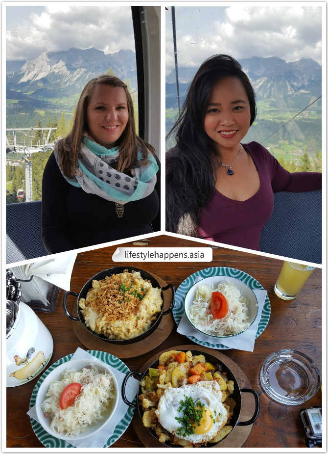 Me and Marusa on the Gondola and our delicious lunch