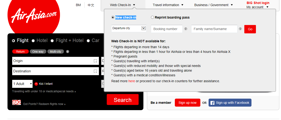 How to check-in online and print out boarding pass at home for