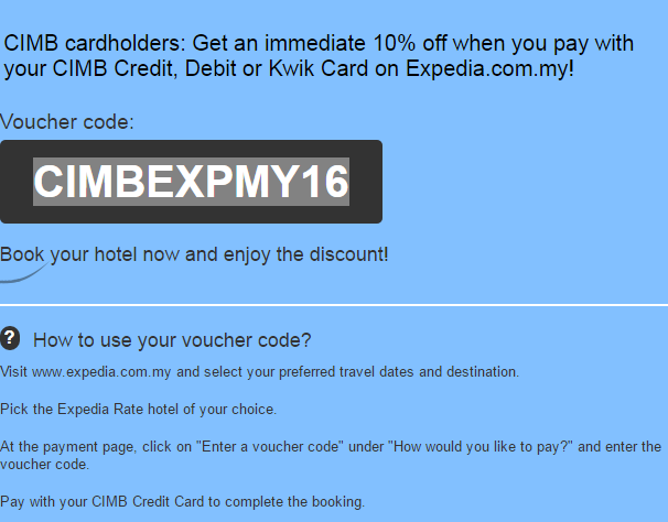 expedia cimb 10% discount